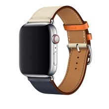 Ремешок для часов, из натуральной кожи для Apple Watch 4 3 2 1 38 мм 42 мм, ремешок для часов iwatch series 5 44 мм 40 мм(Китай)