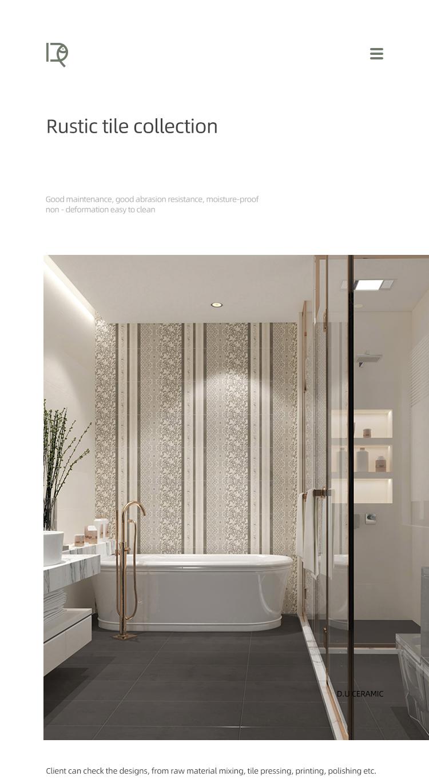 Fashion wear resistant porcelain floor bathroom tiles 600 x 600 gray matt glazed rustic non-slip floor tile