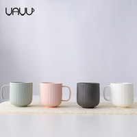 Wholesale drinkware matte multi-colored custom logo 350ml ceramic mugs / coffee mug for gift