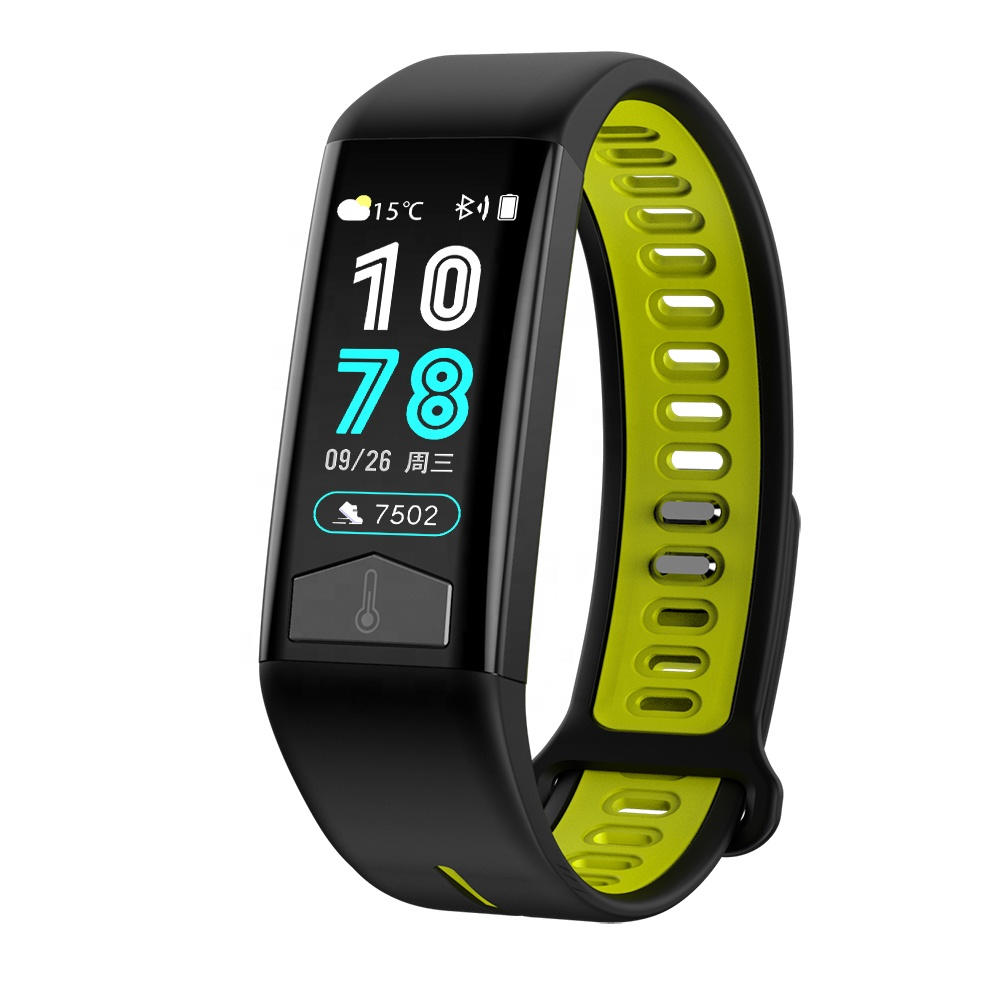 T02 Smart Watch Tahan Air IP68 EKG Panas Tubuh Cuaca Kebugaran Tracker Smart Gelang Heart Rate Monitor Cuaca Smart Watch