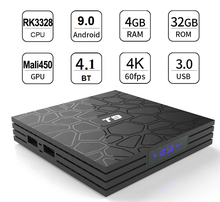 T9 RK3328 Octa Core Android 9.0 Smart TV BOX 4GB 32GB BT 4.0 H2.65 4K 2.4GHz /5GHz WIFI Set-top box Media Player