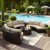 Outdoor furniture high end curved garden round sectional rattan sofa set