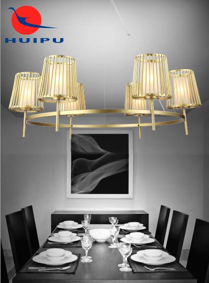 تصميم جديد الأوروبي أنيقة نوبل نجفة ذهبية قلادة الخفيفة الحديثة الفاخرة الحديد الفن الراقية قلادة الخفيفة