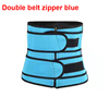 Blue double belt zipper