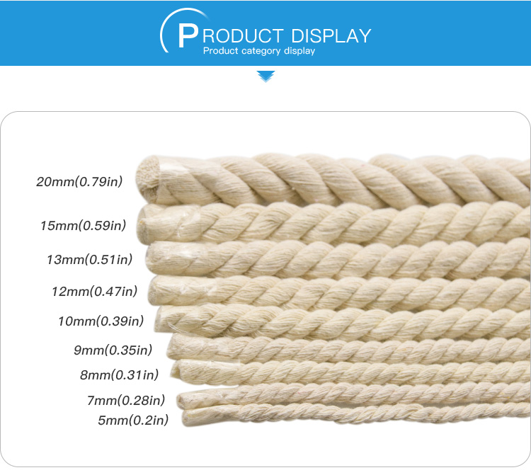 Hot Sell Braided soft Cotton Rope for binding