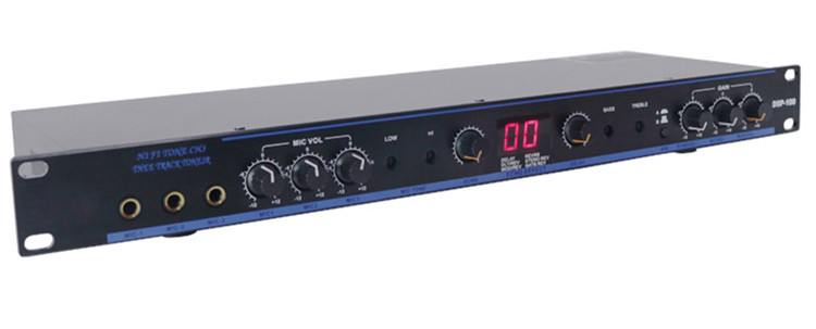 Dj sound system audio digital reverb effect professional mixer processor DSP100 Pre amplifier DSP function