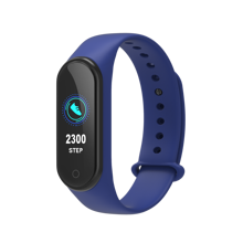 Tahan Air Mi Band M4 Smart Banda Pulsera Inteligente Silikon Watch Kebugaran Tracker M4 Smart Gelang