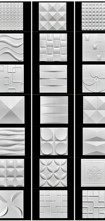 Trang Trí nội thất 3D PVC Tường Bảng Điều Chỉnh Hình Nền Cho Bức Tường