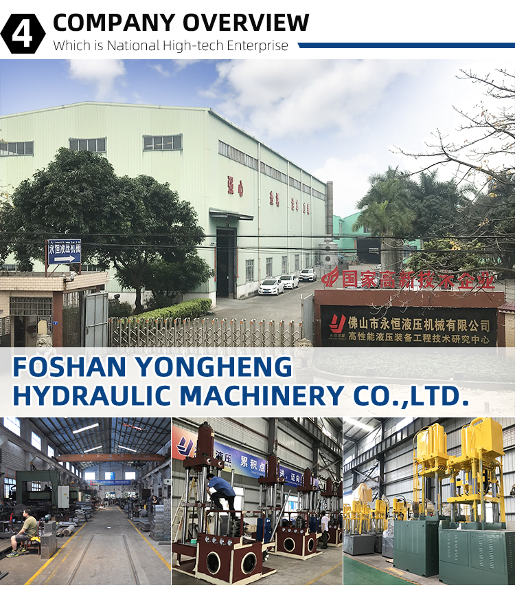 ISO Approved Yongheng Gantry Type Uplifting Single Action Machine 2000 Ton Hydraulic Pressing Machine