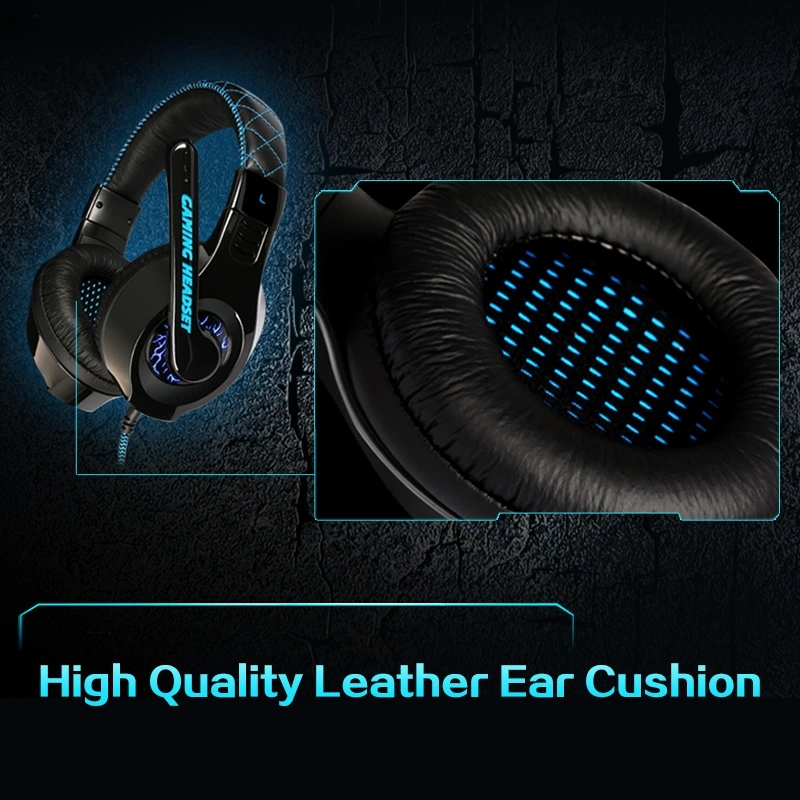 SENICC Stereo PC Headphones G9PRO,with LED light on earcups