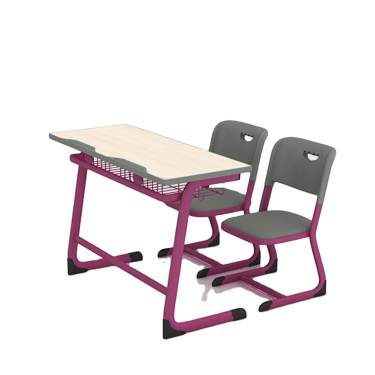 De calidad superior escritorio clase mesas medio muebles de la escuela