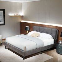wholesale One pieces packing leather bed frame with headboard Bedroom Set King Size bedstead From Derucci