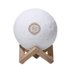 Equantu islamic gift portable LED bluetooth quran player touch moon lamp quran speaker SQ168