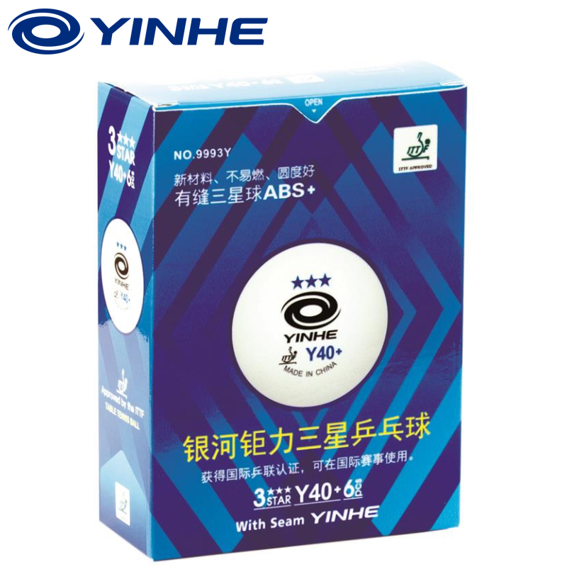 Yinhe Y40+ pingpong with seamed blue professional 3star ittf table tennis ball