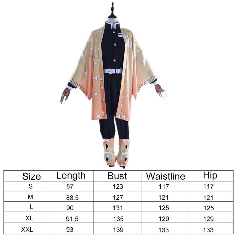 Kimetsu no Yaiba Agatsuma Zenitsu Cosplay Costume Kimono Suit Christmas Costumes