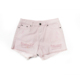 Fashion women cotton pink color ripped plain denim shorts for sale
