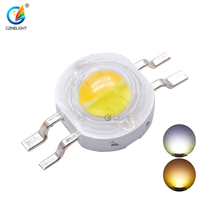 Czinelight Wholesale 1W 3W High Power 350mA 700mA 45mil White And Warm White Bicolor 2in14pin Led