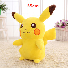 Большой Kawaii Pokemon Pikachu Плюшевая Кукла милый Аниме Пикачу Покемон чучела животных плюшевая кукла детская игрушка детский подарок(Китай)