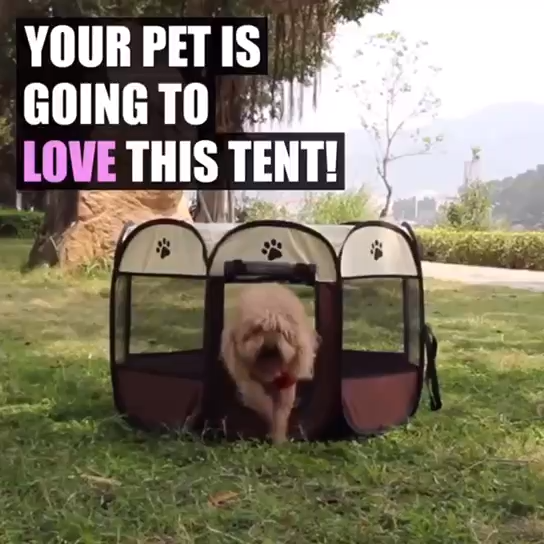 Portable Folding Pets Travel Cage Playpen Outdoor Fence Pet Tent