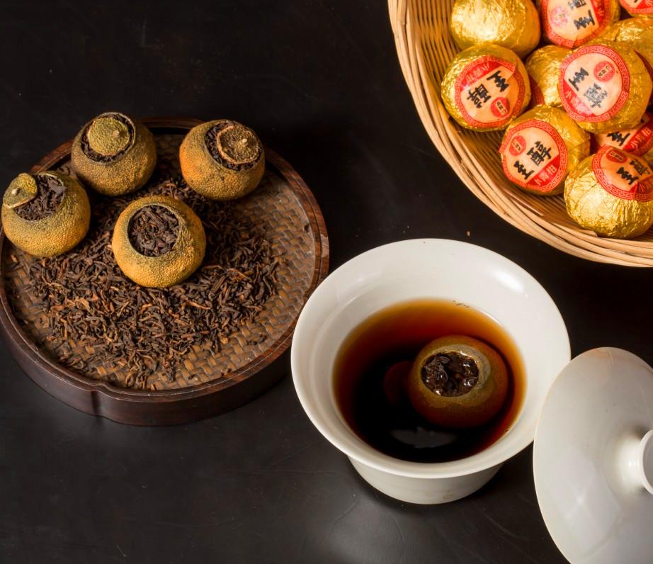 chinese orange peel tea xiao qing gan fruit black tea - 4uTea | 4uTea.com