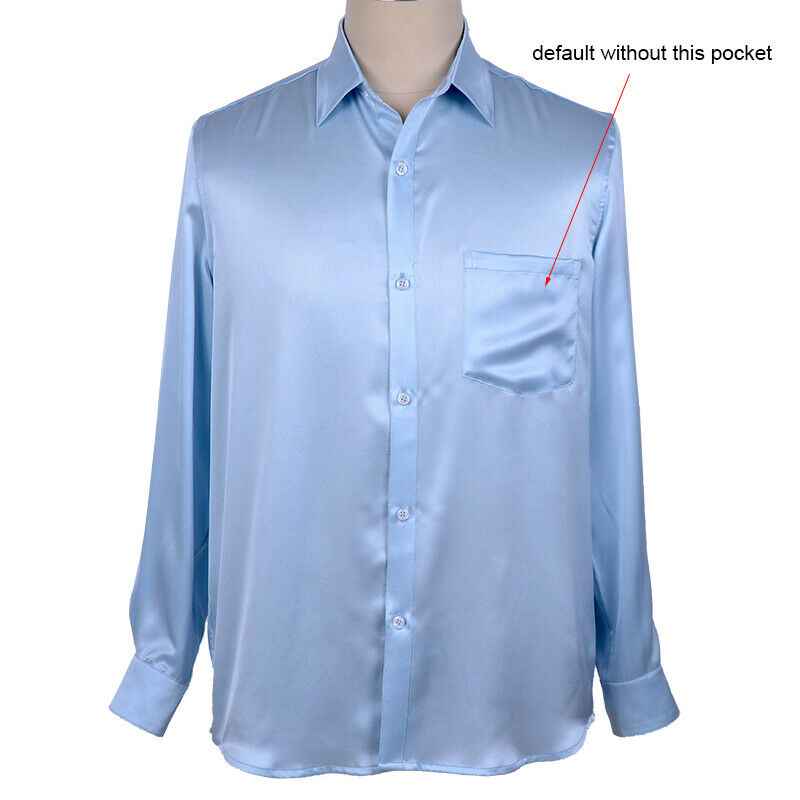 Plus Size 5XL 2020 New Men's Luxury Shirts Wedding Party Dress Long Sleeve Shirt Silk Tuxedo Shirt Men Mercerized Cotton