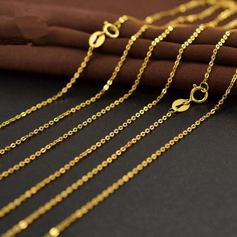 Lugar AU750 puro oro 18K O en forma de cadena collar de accesorios de joyería