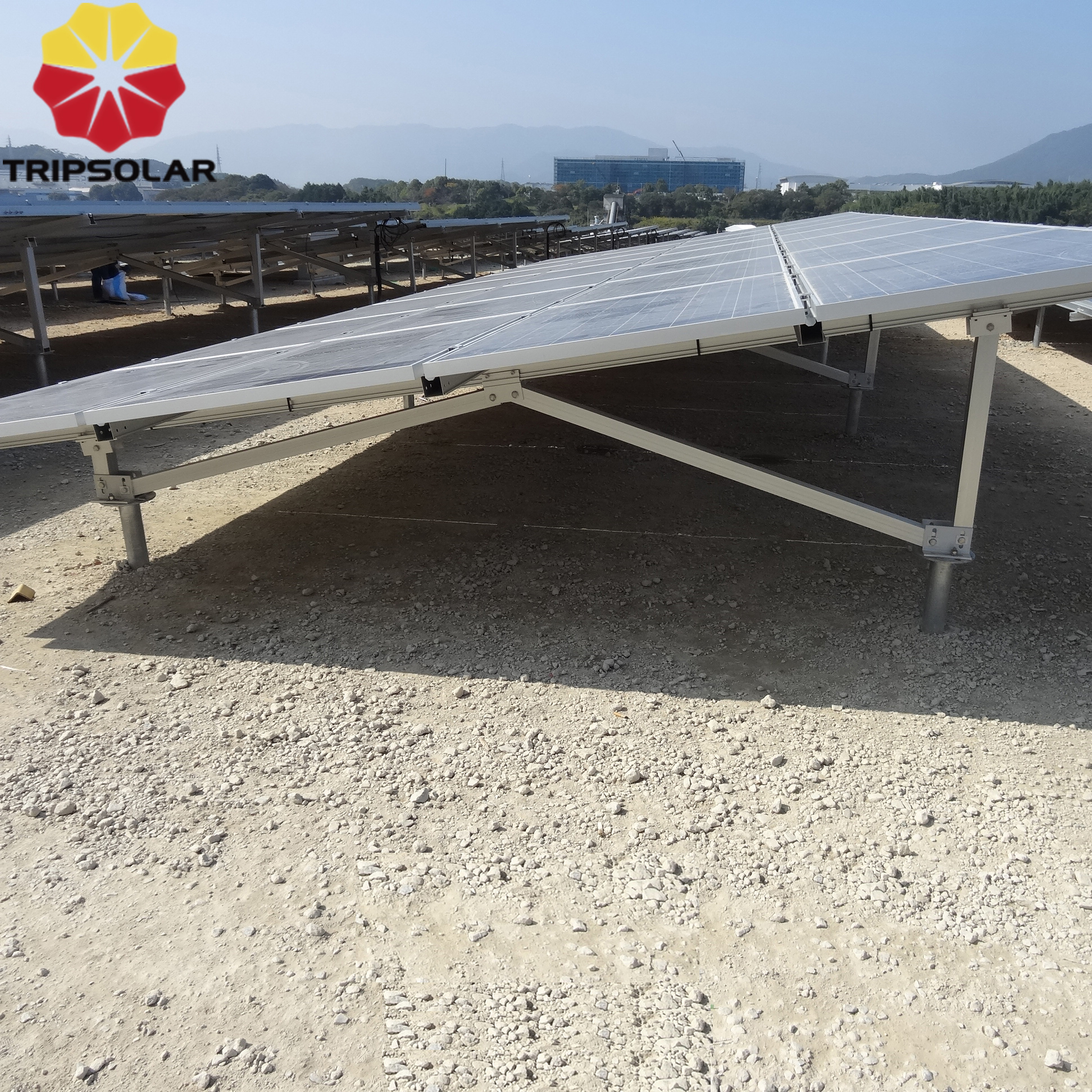 Aluminum Solar Panel Ground System Mounting Bracket Structures