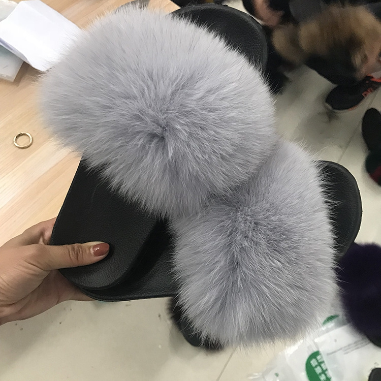 Diy Fur Slides Shoes Accessories Women S Fox Plus Size Ready To Ship And Bag Low Moq Bags Sets Double Band For Women