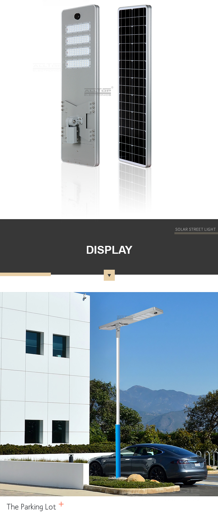 ALLTOP Energy saving no wiring road lights ip65 50w 100w 150w 200w all in one led solar street light