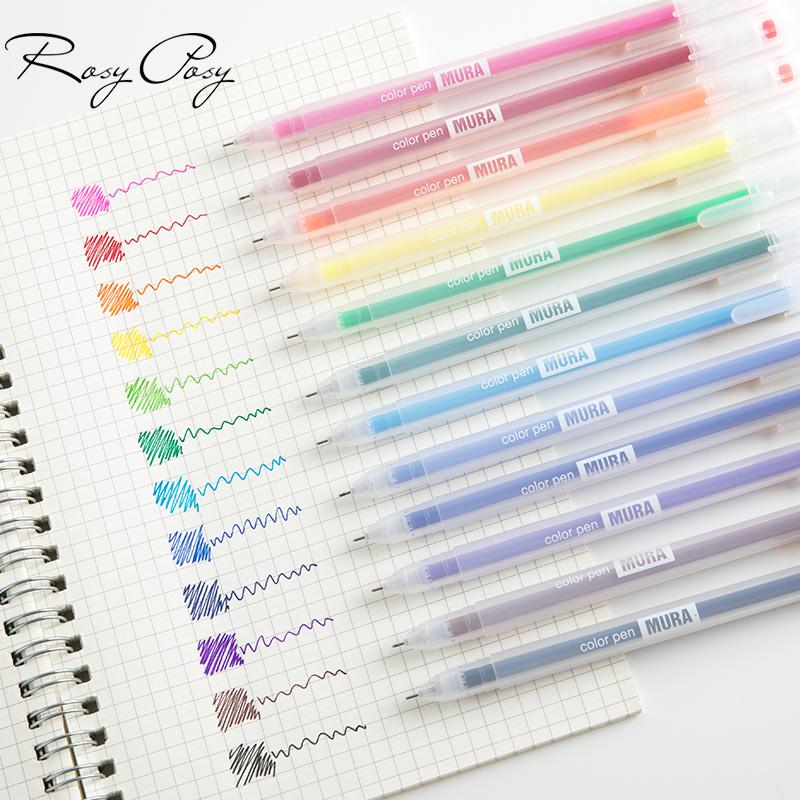 Ensemble de stylo Gel encre 12 couleurs pas cher