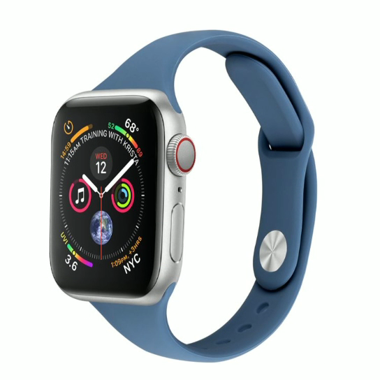 Cheap silicone Apple small waist thin watchband from China Manufacturer for apple watchband