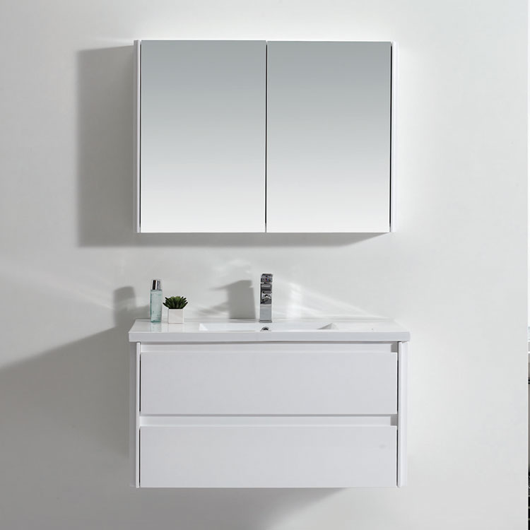 Modern Style New Product Narrow White High Gloss Bathroom Storage Cabinet