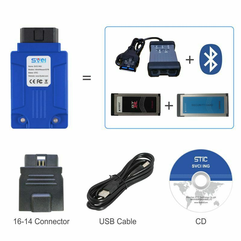 Professional Car Diagnostic Tool Cover SVCI ING All Models for Infiniti / for GTR Automotive Diagnostic Car