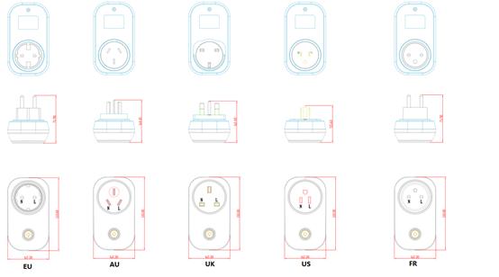 ESP32 Wifi Bluetooth Thông Minh Cắm Với 0.5% Điện Độ Chính Xác, Hỗ Trợ Firmware Tùy Chỉnh