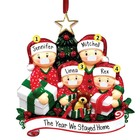 Gift Decoration Family Personalised Christmas Crafts Gift Pendant Face Santa Christmas Tree Decoration Family Name