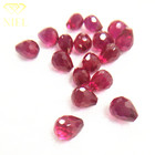 Perfect ruby 5# 6.8x8.2mm Water droplets cut Beautiful red gems High quality and low price for sale