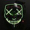 New style halloween mask hand-made LED glow masks Halloween grimace face mask