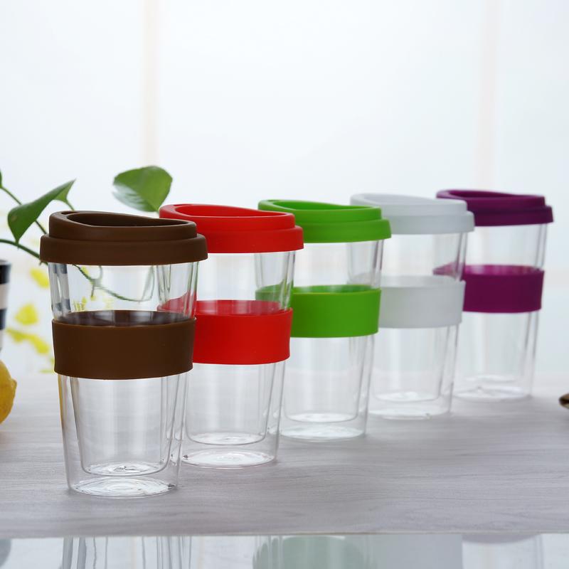 2020 venta al por mayor de doble pared con aislamiento de vidrio taza de café