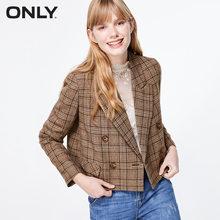 Только осенне-зимний женский короткий клетчатый костюм куртка | 119308544(Китай)