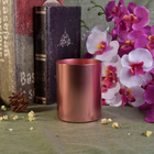 Rose Gold Cylinder Shaped Metal Votive Candle Holders
