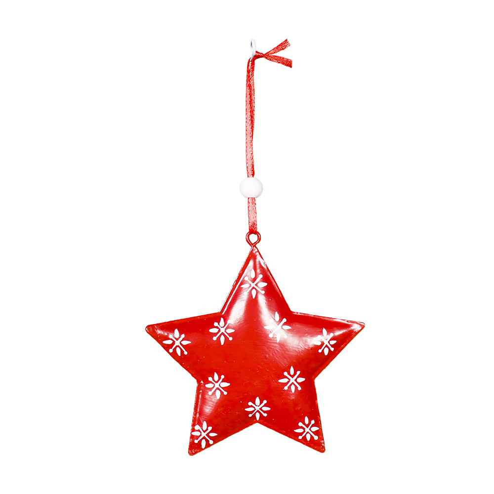 XMAS In stock Iron heart star With Snow Pattern For Many Sizes Bell