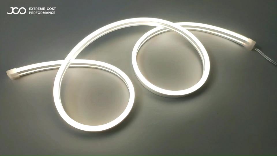JS akıllı LED çıkış beyaz bükülebilir Neon ışıkları SMD 2835 Led Neon şerit ışık IP67 DC 24V Led Neon esnek halat aydınlatma