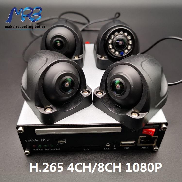 4CH H265 1080P taxi DVR video recorder 3G/4G GPS WIFI RJ45 wifi