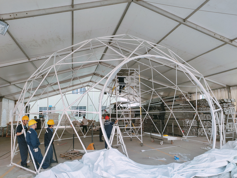COSCO dome event tents for sale 中远 Sandy land-6