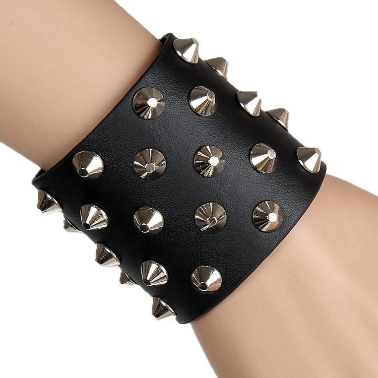 New Trend Rock Punk Non Mainstream Leather Wristband Bracelets Bracer Arm guards