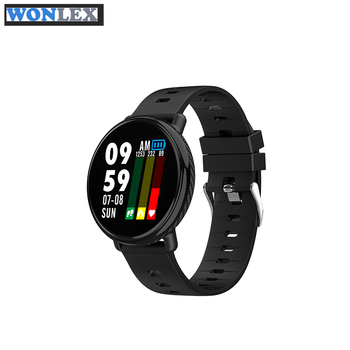 Super slim Smart watch waterproof Color Screen Heart rate monitor Fitness tracker Sports smartwatch For IOS Android