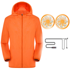 Wholesale Women Men sun protection clothing for fishing Hoodie Coat Sun Protection Suit jacket with cooling fan Outdoor Tops