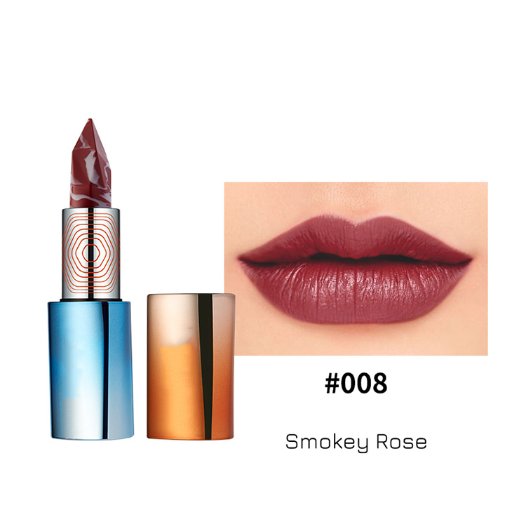 Wholesale Custom Cosmetic Makeup Private Label Matte Marble Sheer Lipstick Lip Stick Labiales For Lady And Girls
