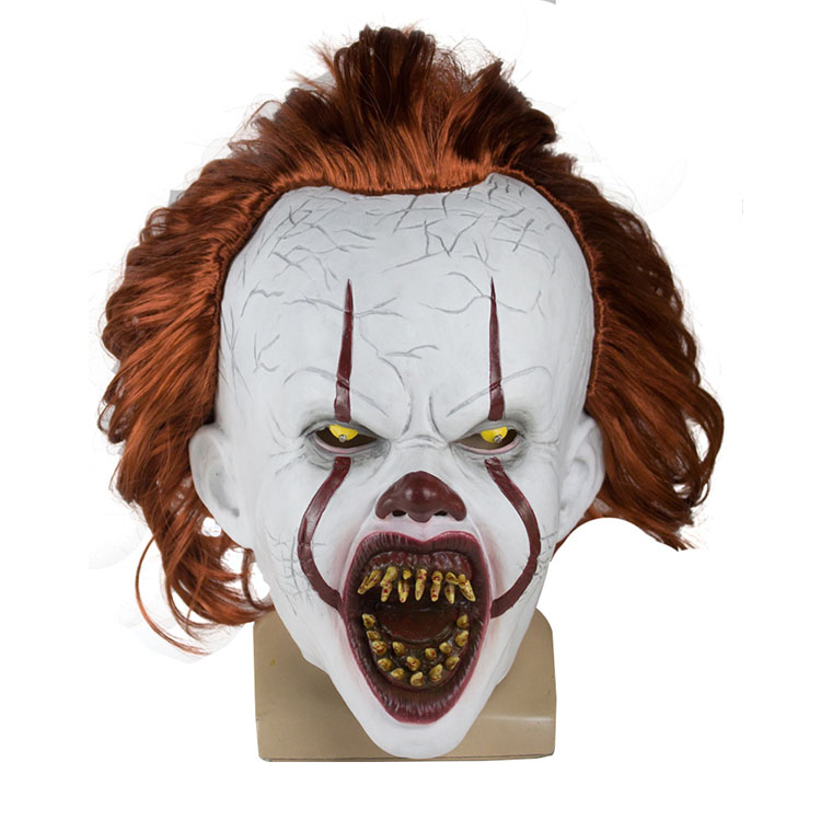 Nicro Pennywise Stephen King 'S Clown Joker Cosplay Party Full Face Head Siliconen Latex Scary Led Halloween Masker