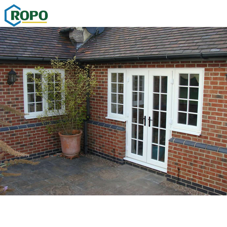 AWA And WERS Certified ROPO Building Double Glazing Casement UPVC/PVC Doors and Windows